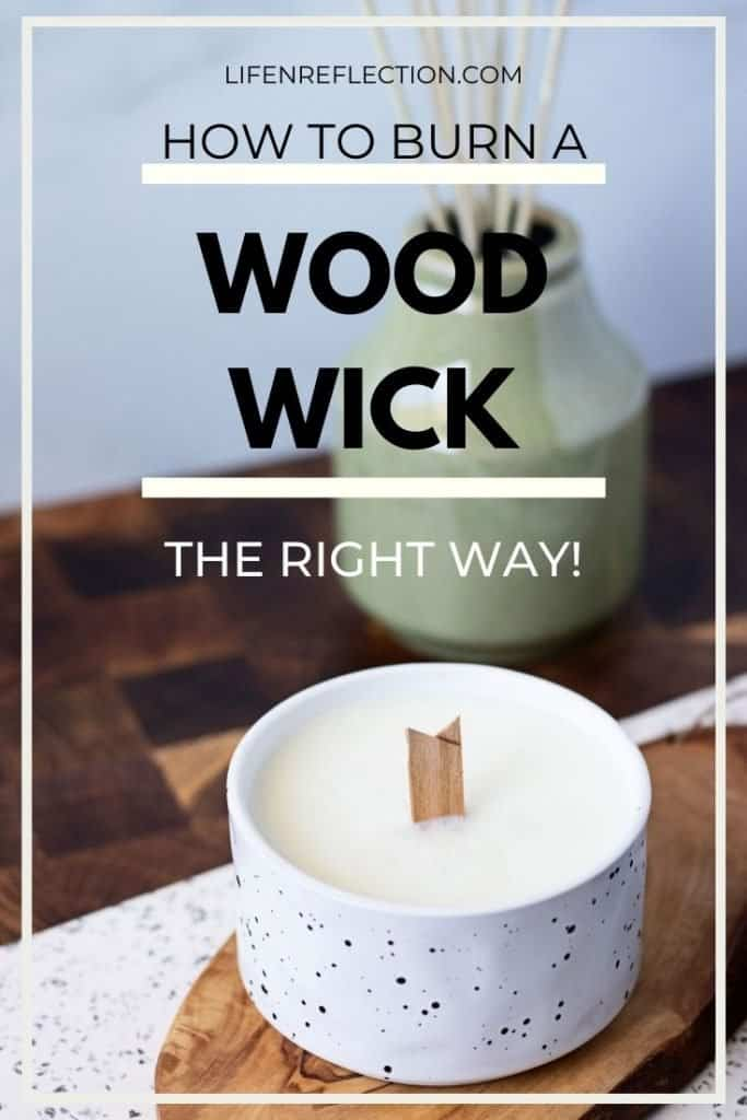 How to burn a wood wick candle the right way!