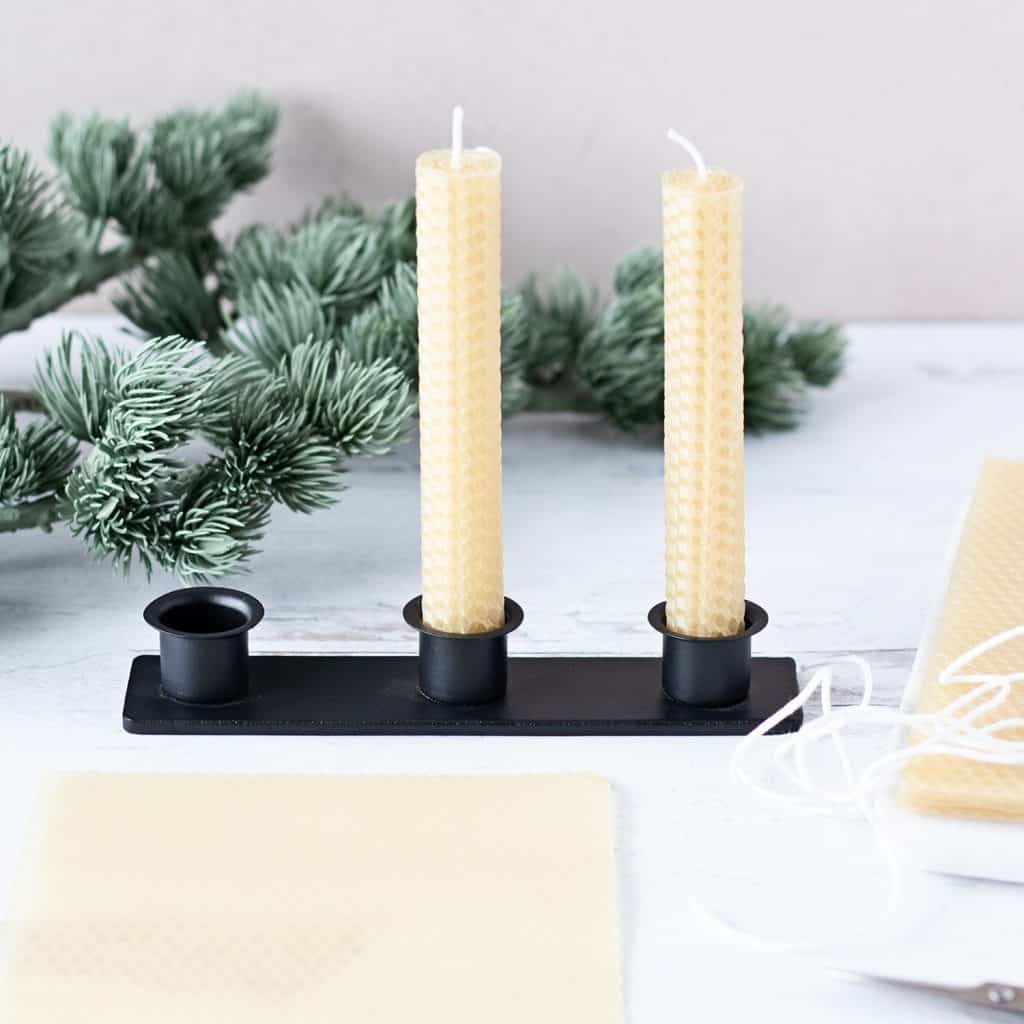 Want to know how to make rolled beeswax candles? Print our step by step candle making tutorial for the perfect beeswax candle tapers!