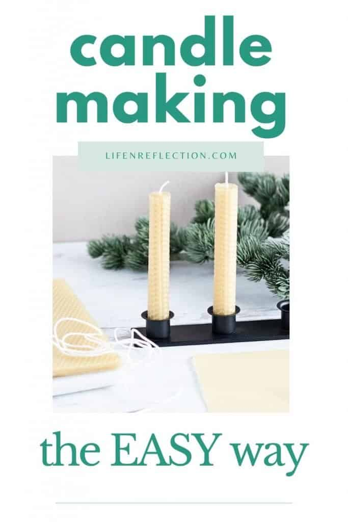 The best part about how to make rolled beeswax candles is how extremely easy it is!