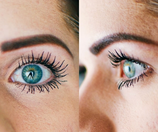 A woman with natural lash growth