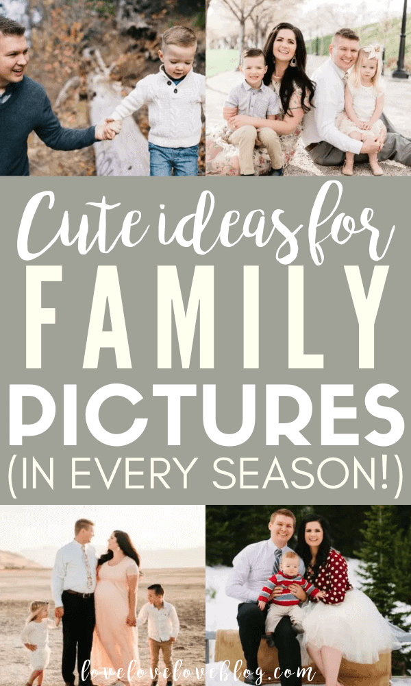 If you're wondering what to wear for family pictures in the fall, summer, spring, or winter, this post is for you!