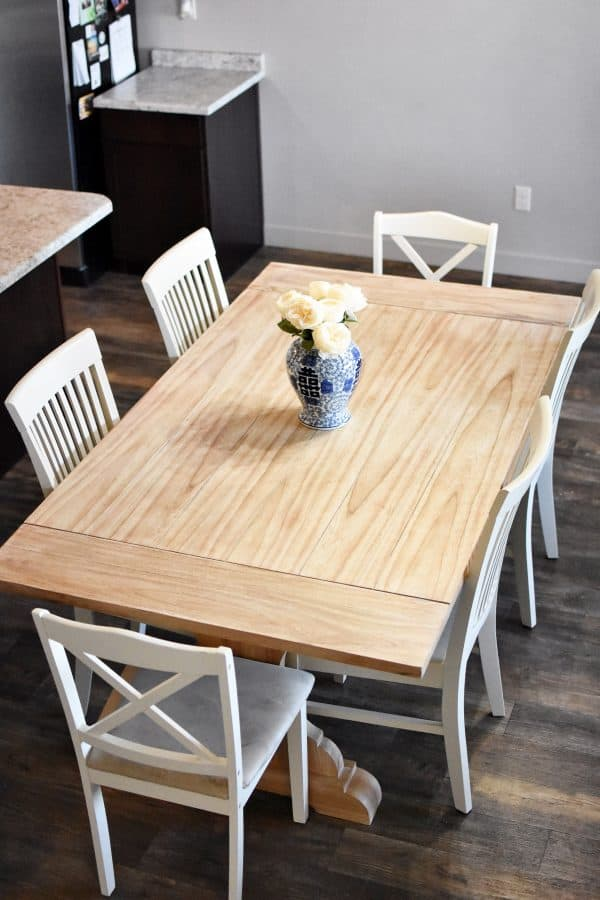 How to refinish a kitchen table final product