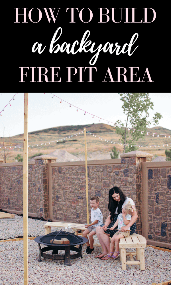 DIY this easy backyard fire pit on the cheap!