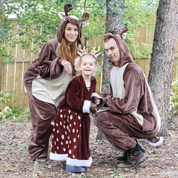 Deer DIY family costumes
