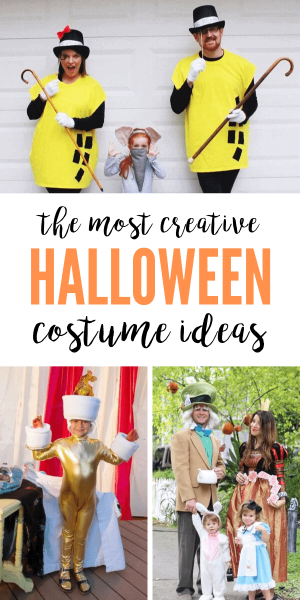 Lots of family halloween costumes with kids!