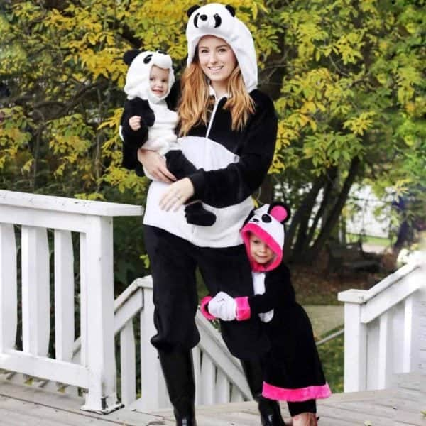 Panda family outfits for Halloween