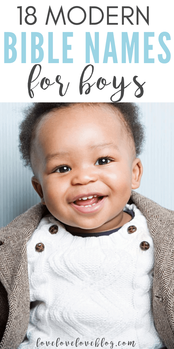 Here are 18 unique boys bible baby names and their meanings.