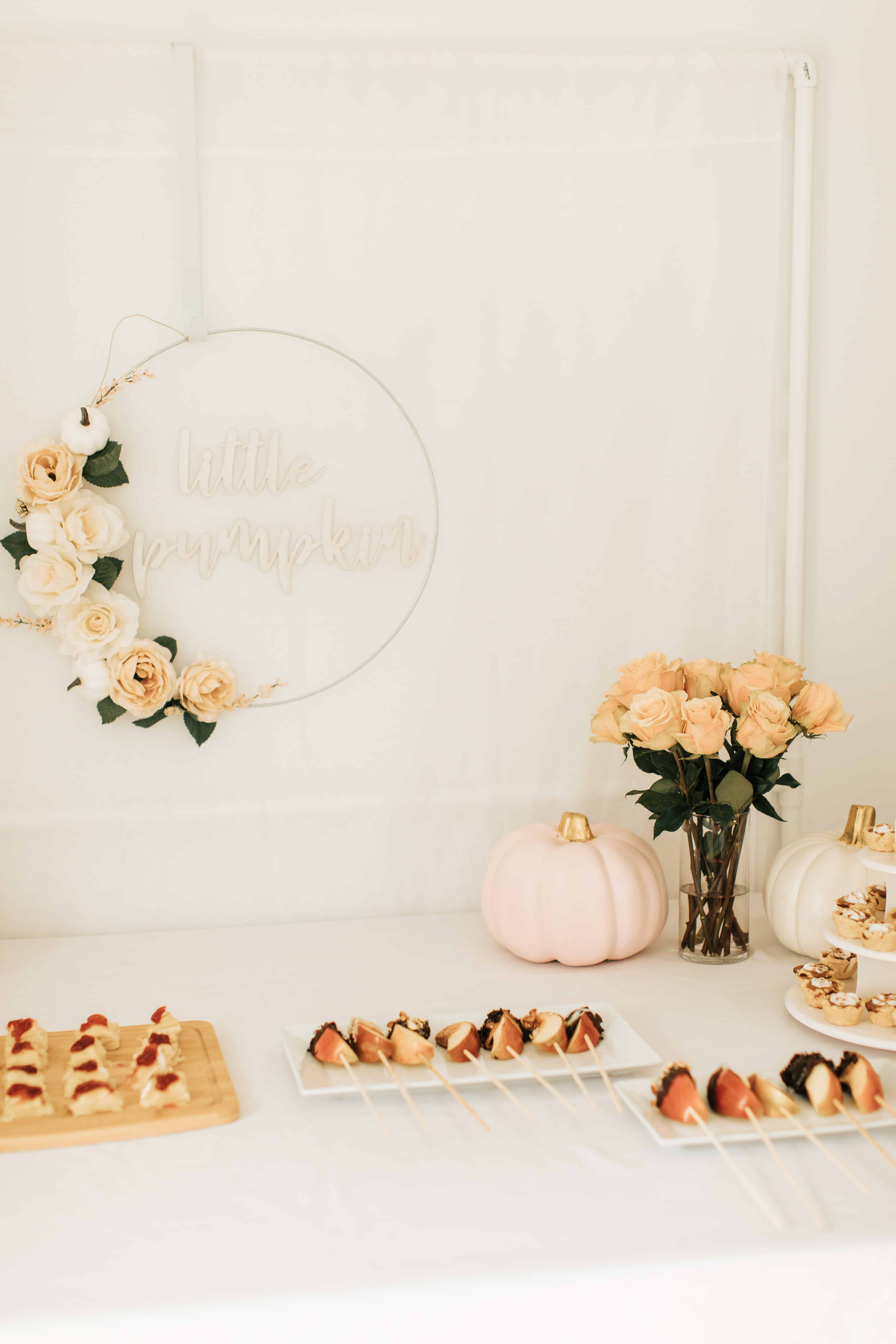 Pumpkin 1st birthday table.