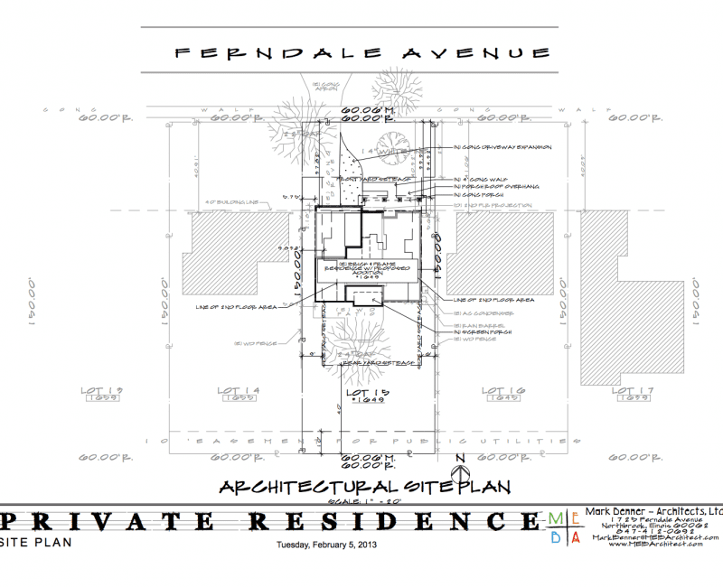 architectural site plan