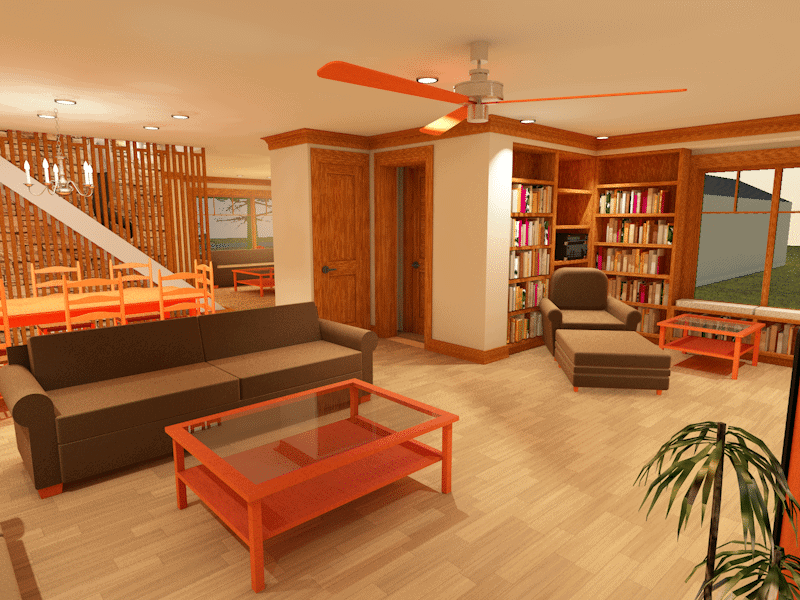 Architect's Bungalow Family Room - big plans for 2017