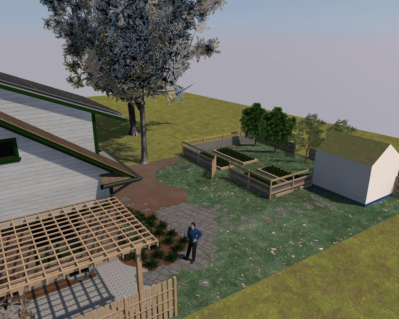Elevated Garden View