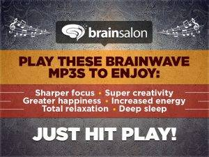 Brain Salon is a series of 6 MP3 brainwave recordings for focus, sleep, relaxation & more