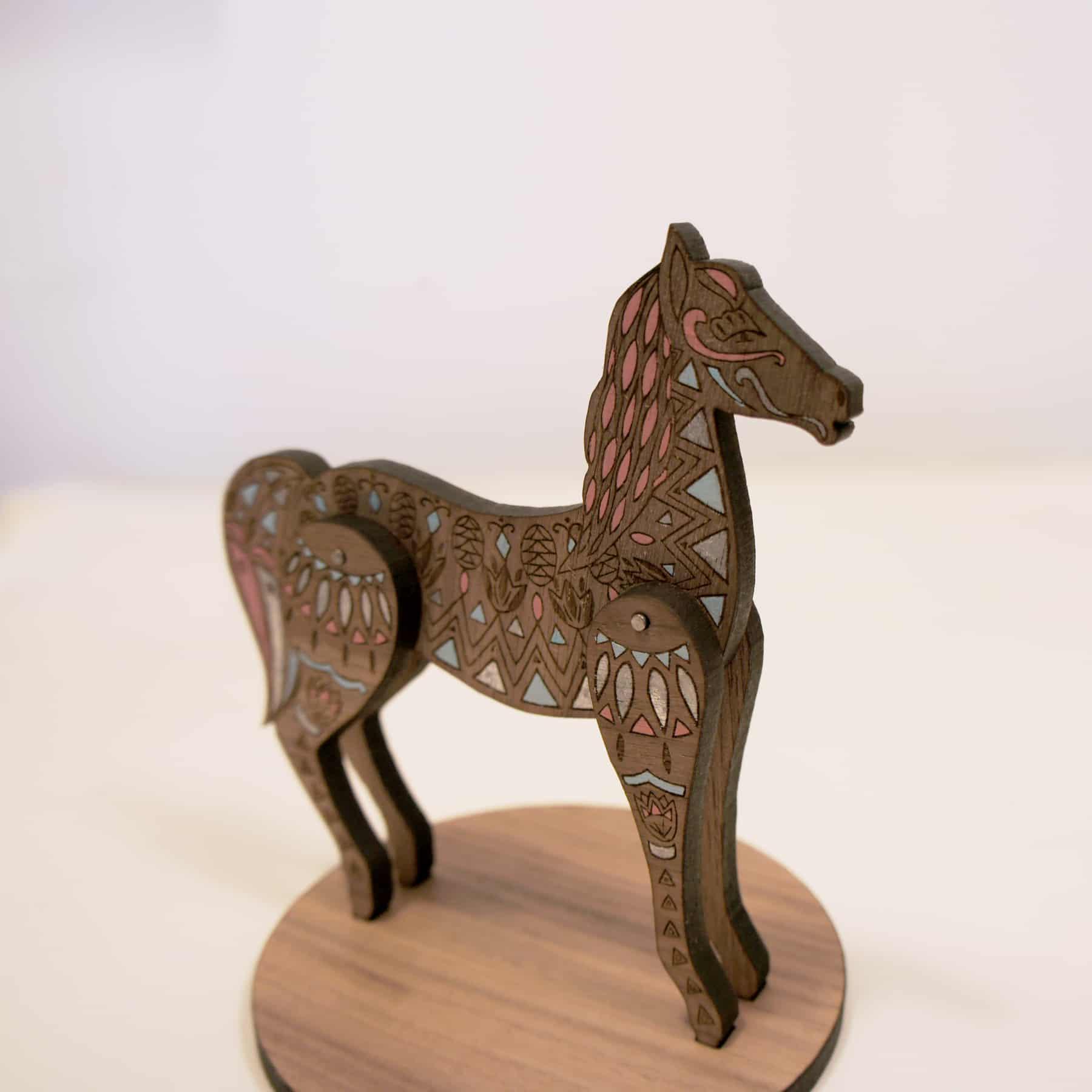 Horse desktop stand