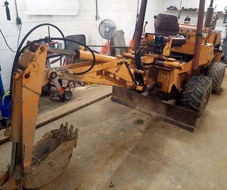 CASE 360 with SD100 Backhoe