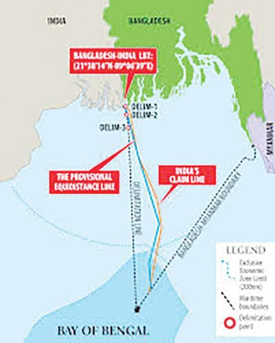 BD seeks Indian support to establish its rights on Bay's grey area waters