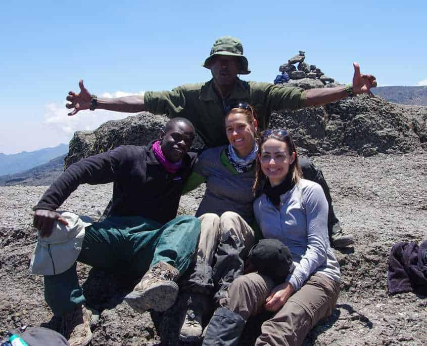 Ontop of the Barranco wall on Mt Kilimanajro