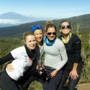 Happy time on thecharity adventure to Mt Kilimanajro