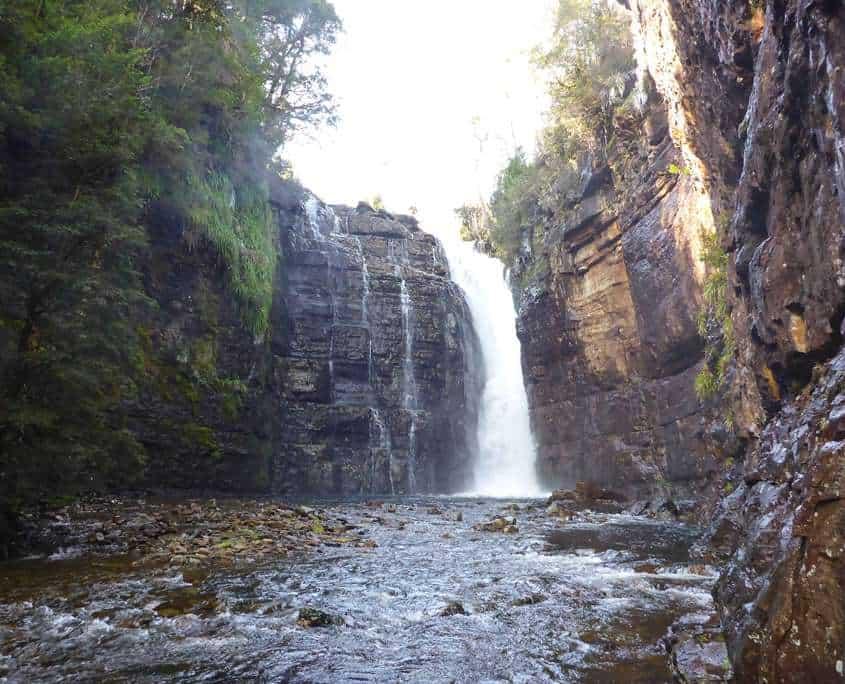 Hartnett Falls on the Overland Track Tasmanian Adventure