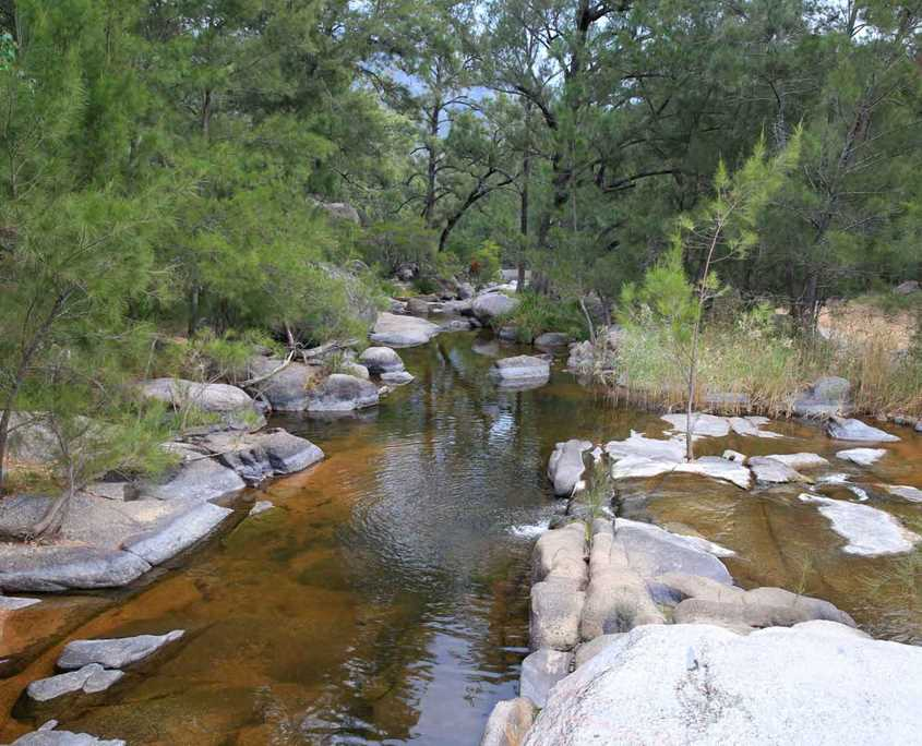 Part of the beautiful Coxs River near the ecolodge on the Six Foot Track