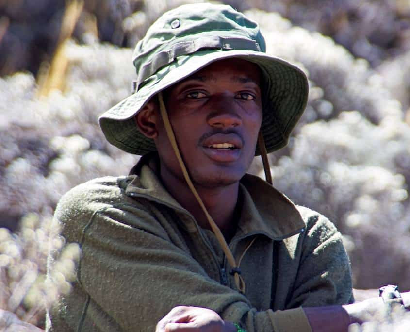 A photo of Yesse our guide who is one of the best on Kilimanjaro