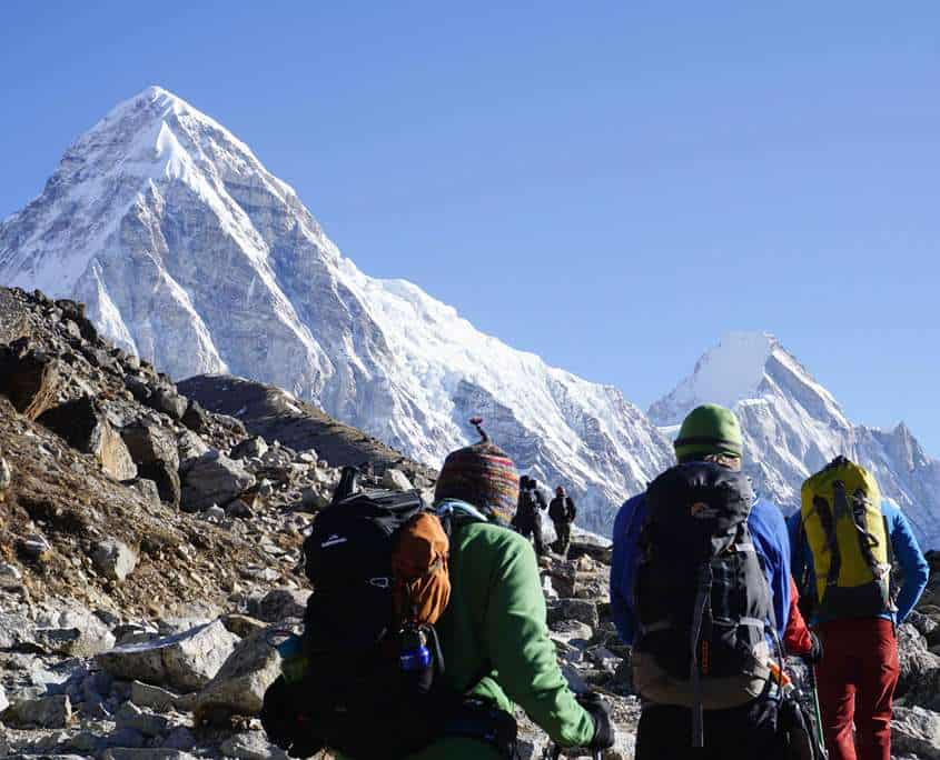 The mountain views when trekking to Everest Base Camp are spectacular