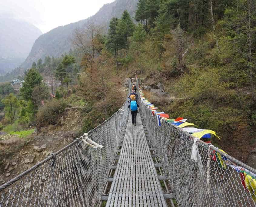 There are many swing bridges on the way to Everest Base Camp