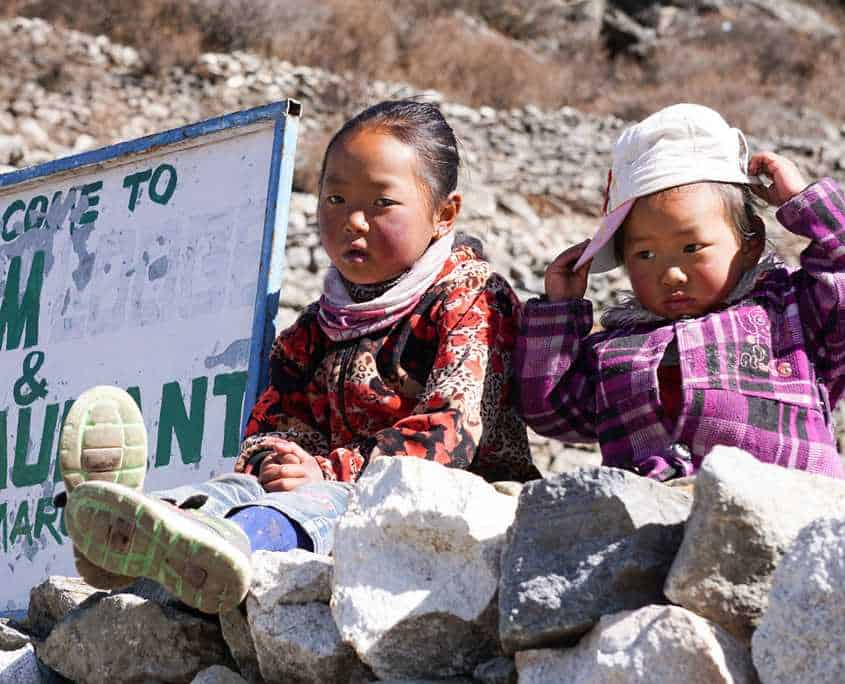 The Everest Base Camp trail is home to many beautiful Nepalese children