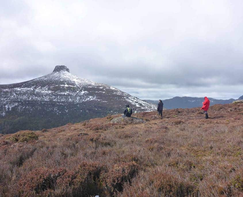 Taking in the spectacular views on the Overland Track in the Cradle Mountain Lake Sinclair National Park