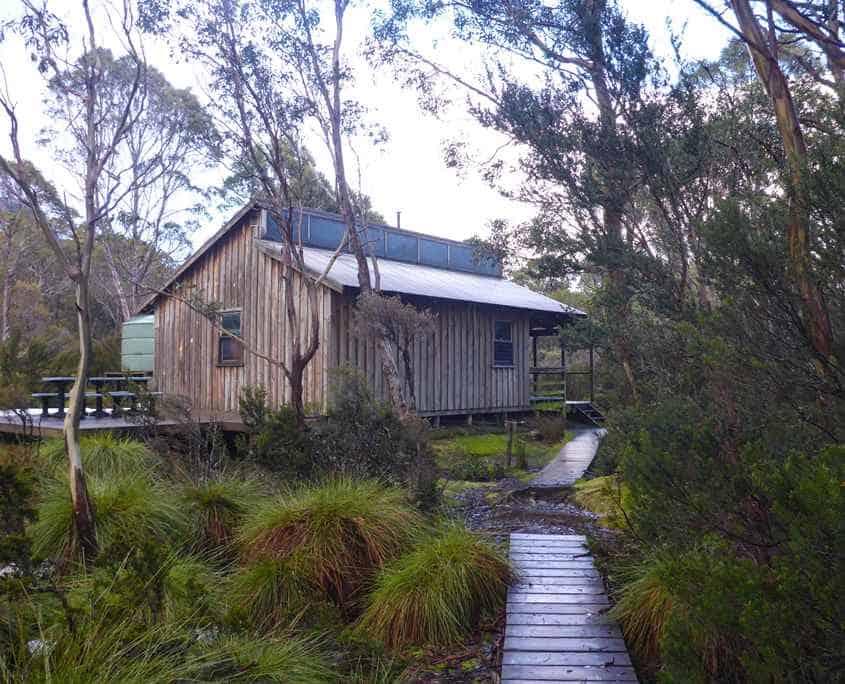 Kia Ora hut on the Overland Track in Tasmania