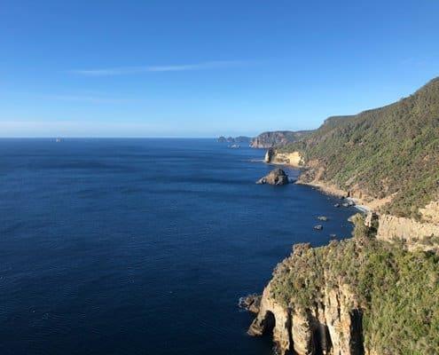 Views along the coastal track on the Three Capes Track
