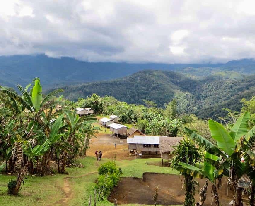 A hill top village on the Kokoda Track