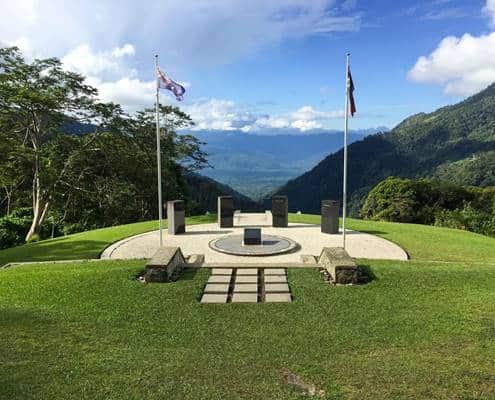 Isurava War Memorial on the Kokoda Track