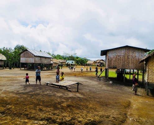 A village on the Kokoda Track