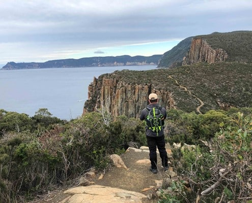 Looking out towards Cape Pillar on the Three Capes Track
