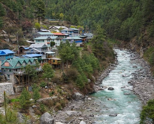 A beautiful mountain village on the way to Everest Base Camp