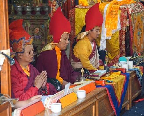 Prayer ceremony in Kathmandu before starting the Everest Base Camp adventure