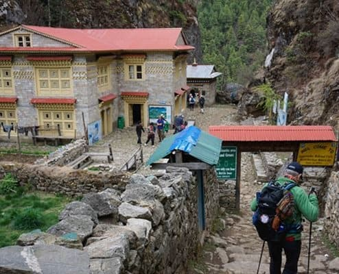 Beautiful mountain teahouses trekking to Everest Base Camp