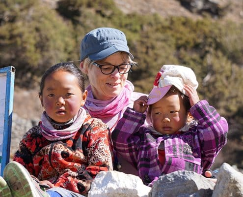 Some Sherpa children enjoying a photo opportunity on the Everest Base Camp route