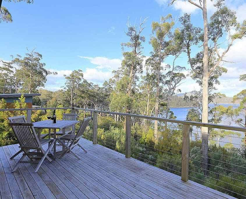 Stewarts Bay Lodge is where you stay on the Three Capes Track