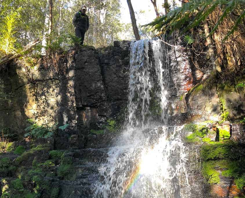 A waterfall on the walk to Fortescue Bay on the Tasman Peninsula