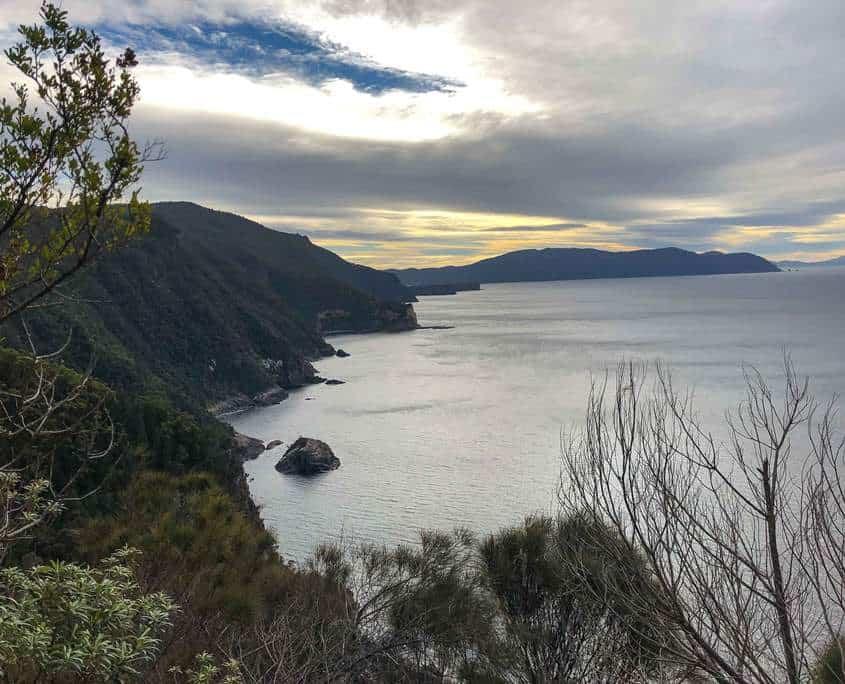 Stunning views back to Eagle Hawk Neck on the Tasman Peninsula