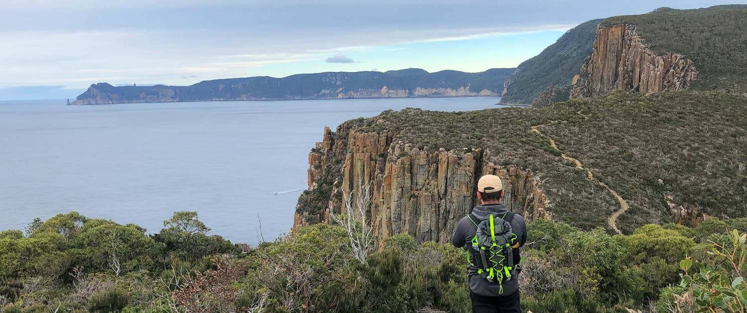 Looking towards Cape Pillar on the Three Capes Track