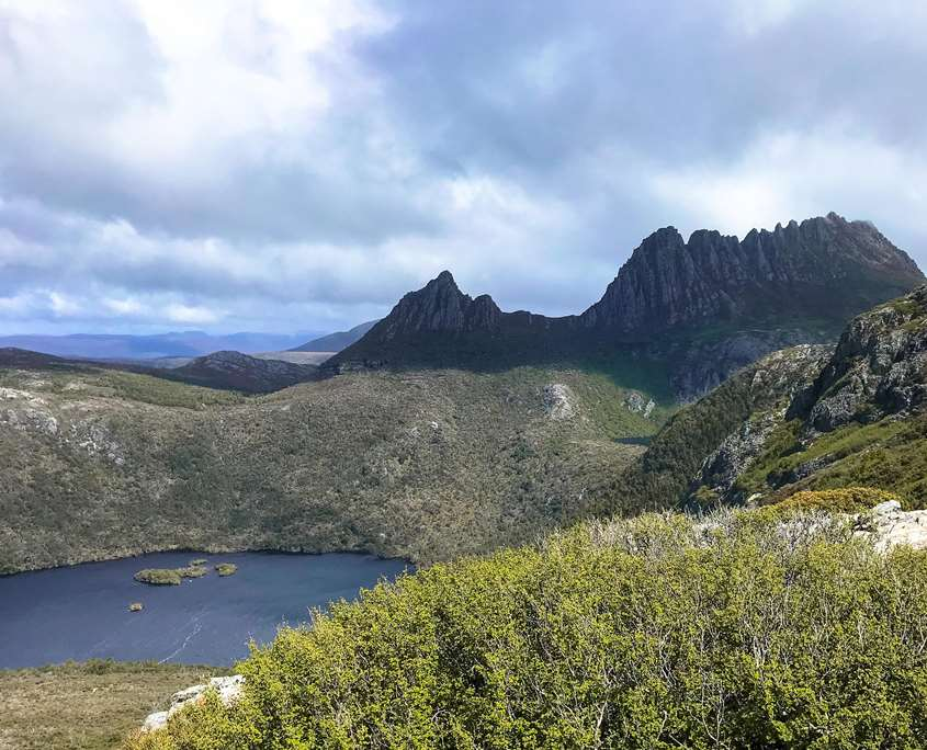 Views from Marions Lookout on The Overland Track in Tasmania