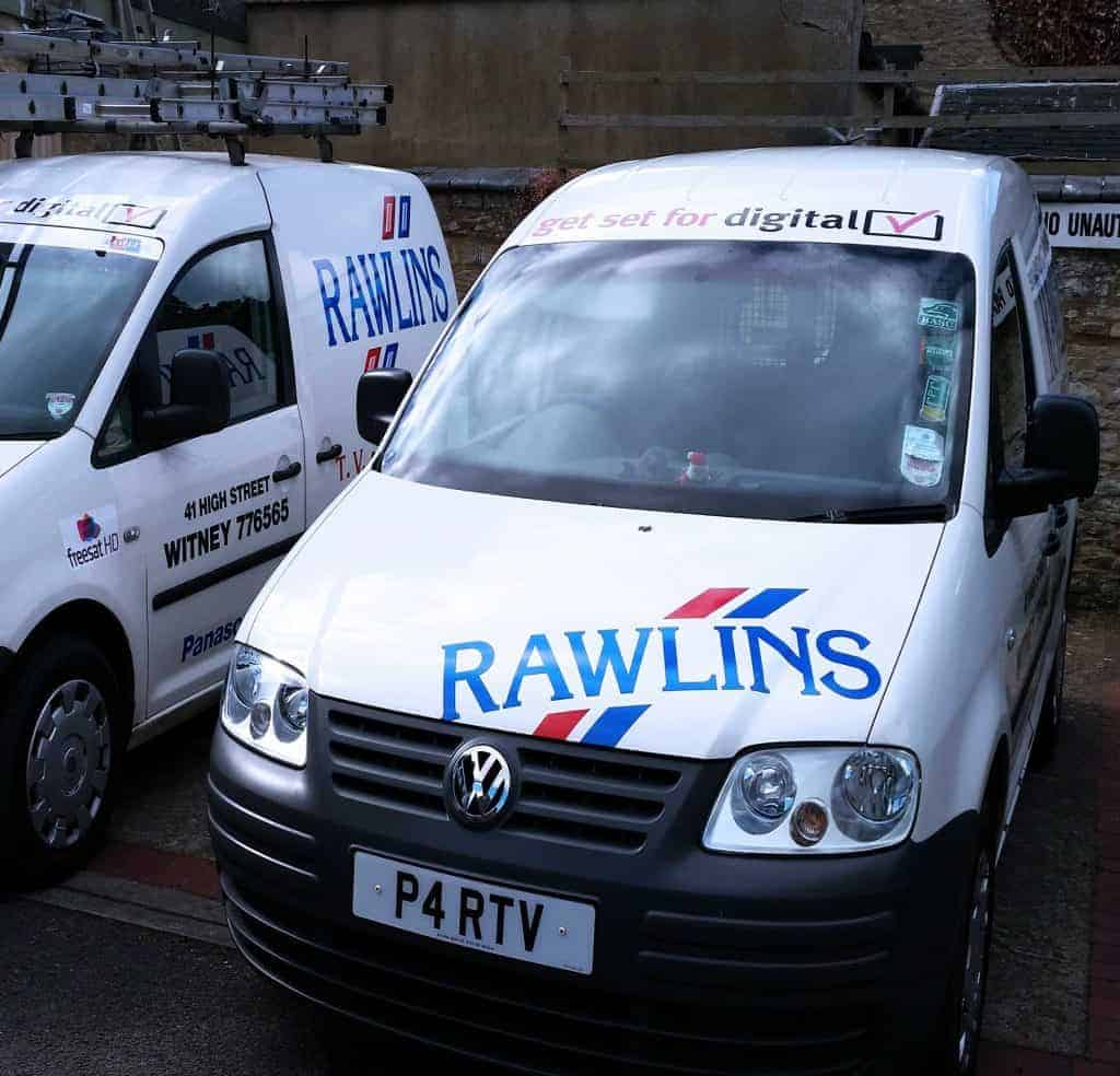 Rawlins TV Service Vehicles