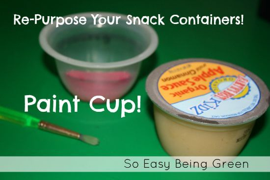 applesauce cups for acrylic painting tips