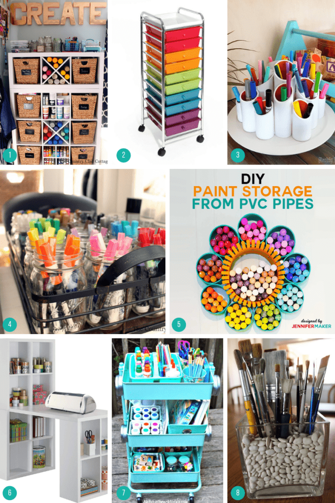 rock painting supplies storage ideas
