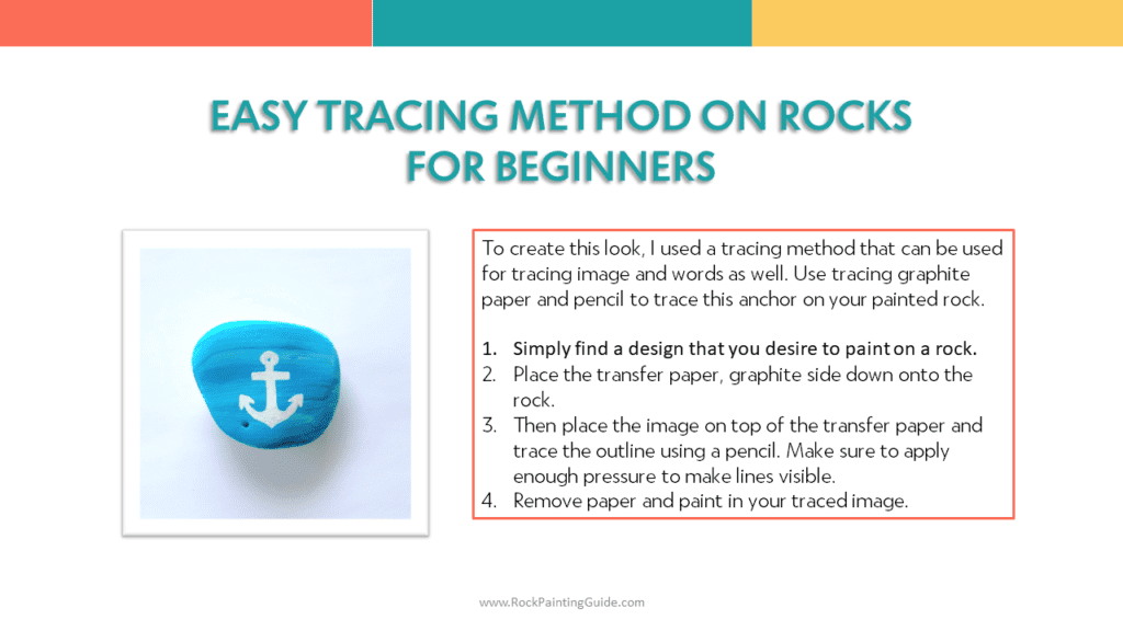 tracing for rock painting