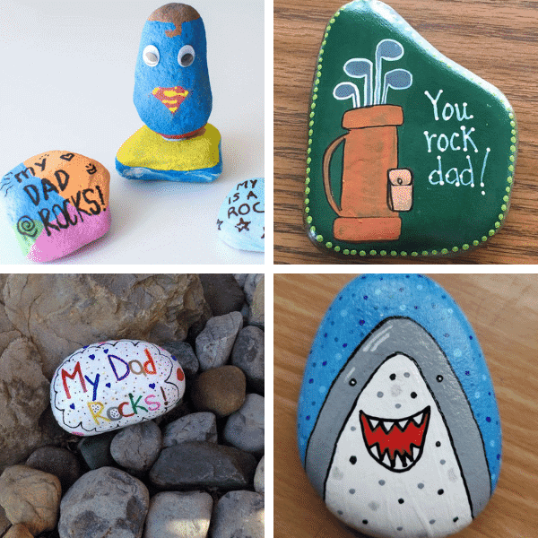 father's day painted rocks