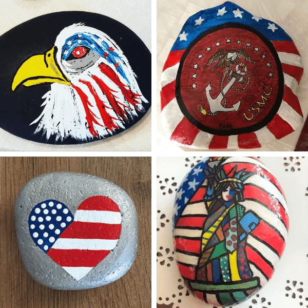 USA painted rocks