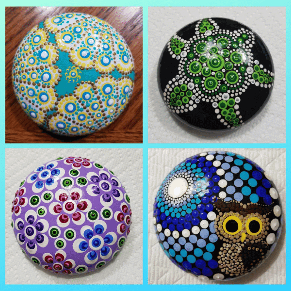 dot art rock painting